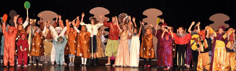 """Szene aus dem Musical """"König Keks"""" im Oktober 2009"""