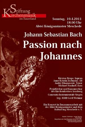 Bachs Johannes-Passion in der Abtei Königsmünster Meschede