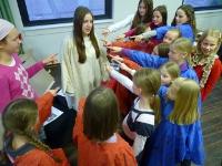Singend Jesus und Judas sein